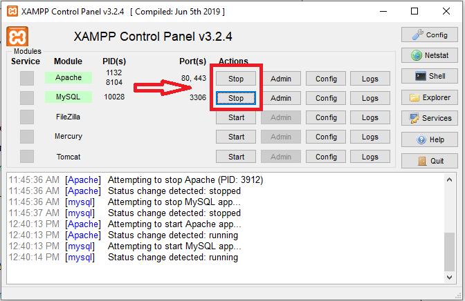 XAMPP_control_panel -highlited